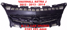 VAUXHALL  ASTRA J   GRILL  FRONT  ( IN TOP OF  BUMPER )   2012 - 2013 - 2013  NEW